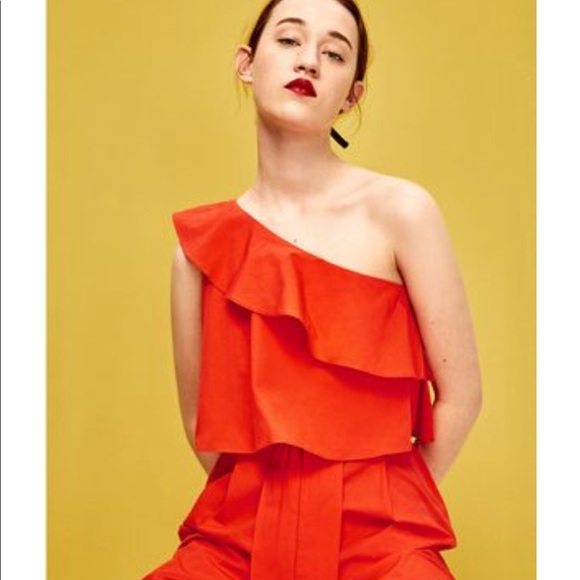 c41f367ed9 NWT s Zara orange jumpsuit Size M